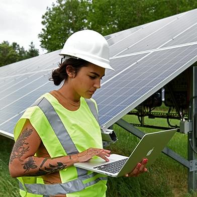IRB Student at Solar Panels