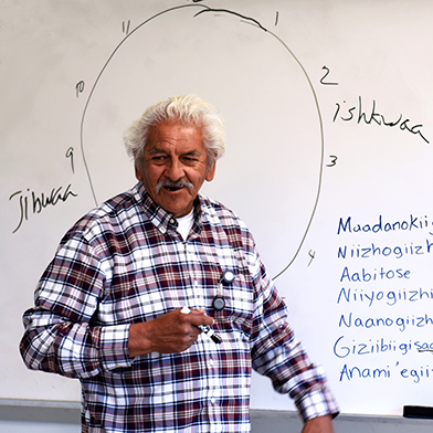 Bob Jourdain's ojibwemowin lecture