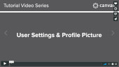 Canvas - User Settings & Profile Picture